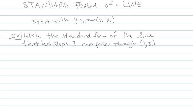 Standard Form of a Line - Problem 3