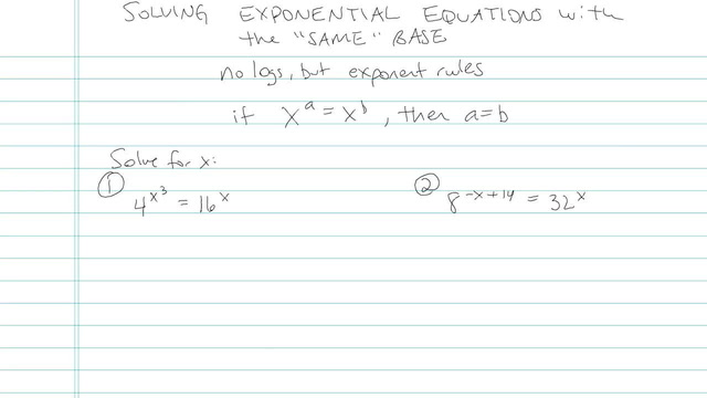 Solving Exponential Equations with the 'Same' Base - Problem 5