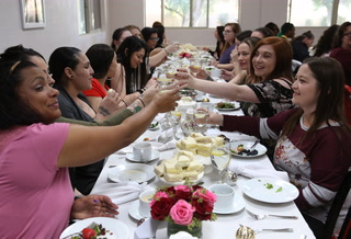 An elegant Tea Party for substance abuse and homeless women
