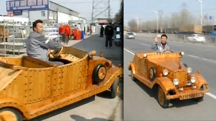 Den kjører, er lekker og laget av en snekker