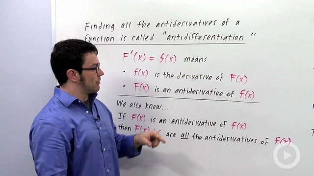 Definition of Indefinite Integrals