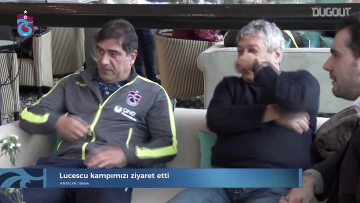 Mircea Lucescu Visits Trabzonspor Camp