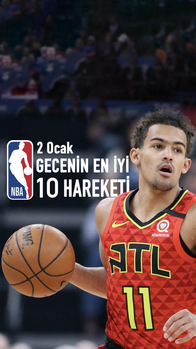 NBA'de 2 Ocak'ın en iyi 10 hareketi