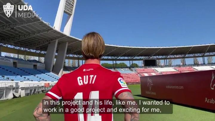 Las frases más destacadas de Guti en el día de su presentación con el Almería