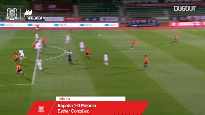 El doblete de Esther González ante Polonia
