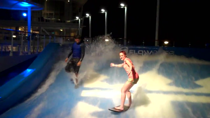 Oasis Of The Seas Flowrider - Cruise Critic Goes Surfing