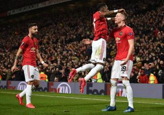 Manchester United barre al Brujas y avanza a los octavos de final de la Europa League