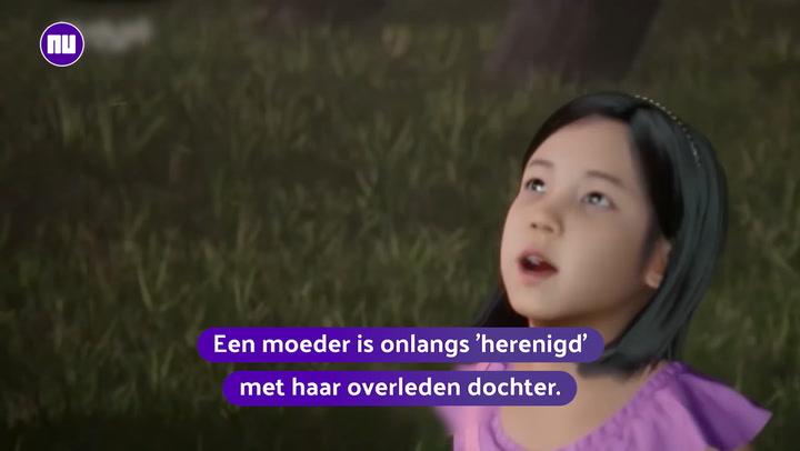 Moeder ziet overleden dochter met VR-bril