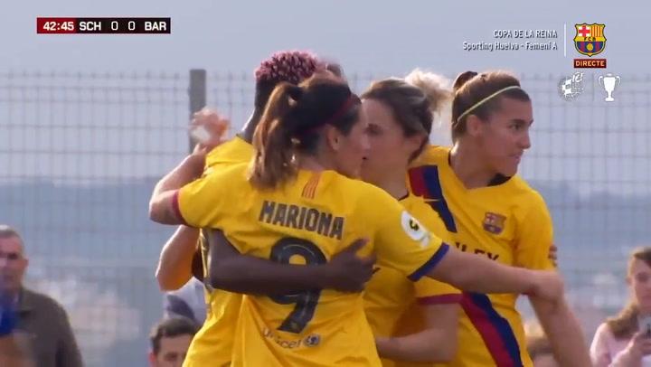 Los goles del Sporting Huelva - FC Barcelona (0-4) de octavos de la Copa de la Reina