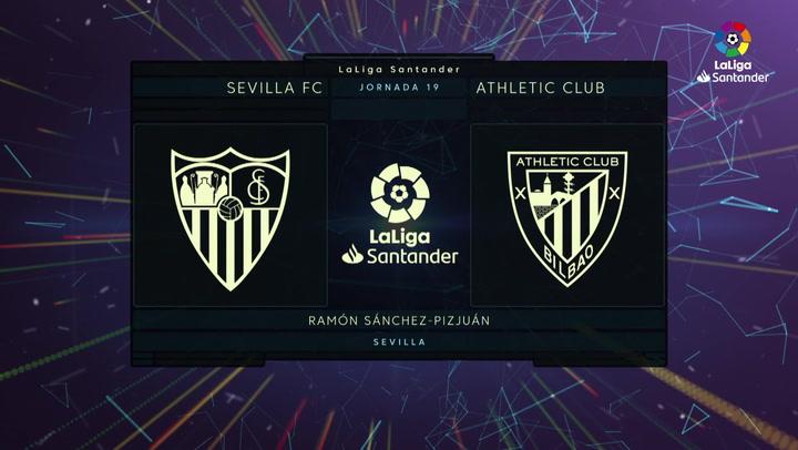 LaLiga (J19): Resumen y goles del Sevilla 1-1 Athletic