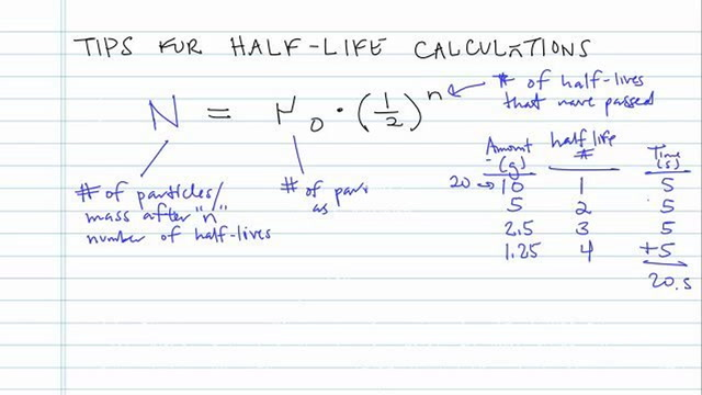Tips for Half-Life Calculations