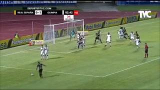 Real España empató 1-1 contra Olimpia en el Olímpico de San Pedro Sula