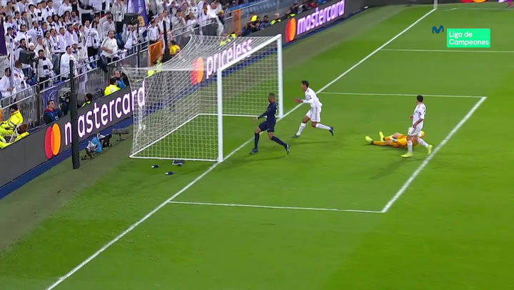 Champions League: Real Madrid - PSG. Gol de Kylian Mbappé (2-1)