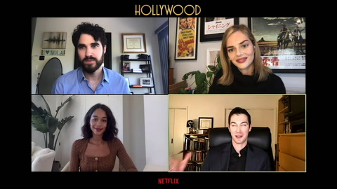 Darren Criss, Laura Harrier & Samara Weaving on giving 'Hollywood' the Hollywood treatment