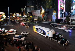 NASCAR Hauler Parade returns to Las Vegas