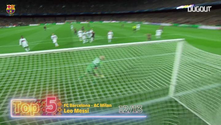 Messi'nin Şampiyonlar Ligi'nde Attığı En İyi 5 Gol