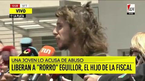 Pido disculpas si ofendí a alguien, dijo Eguillor, acusado de violación, al salir de la cárcel
