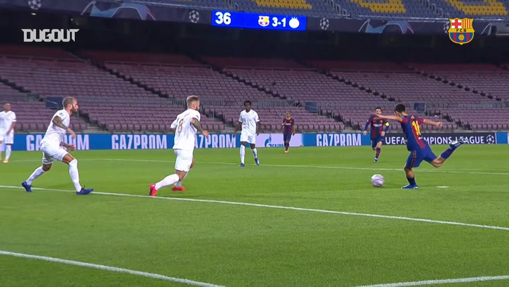 Pedri scores his first Barca goal in the Champions League