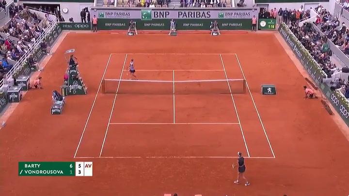 Ashleigh Barty consigue la victoria en Roland Garros