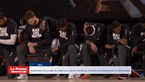 Jugadores de la NBA se unen a la lucha contra el racismo en reinicio de la temporada