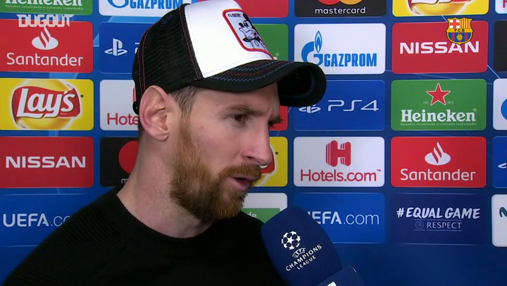 Leo Messi Delighted With Barça's Victory Over Lyon