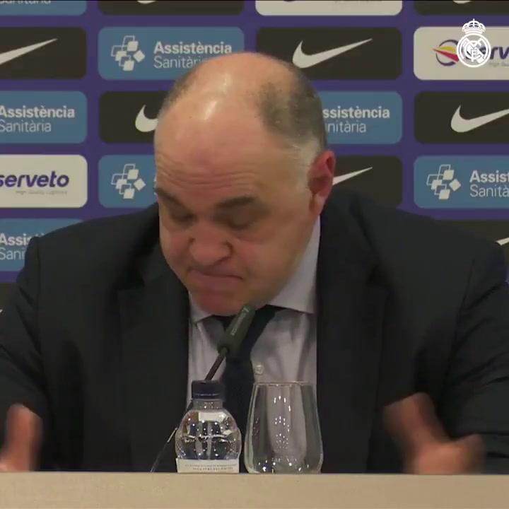 Pablo Laso habló tras el partido en el Palau