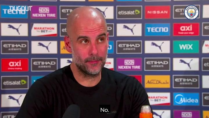 Guardiola: 'A veces es bueno perder, sirve para darte cuenta de lo difícil que es todo'