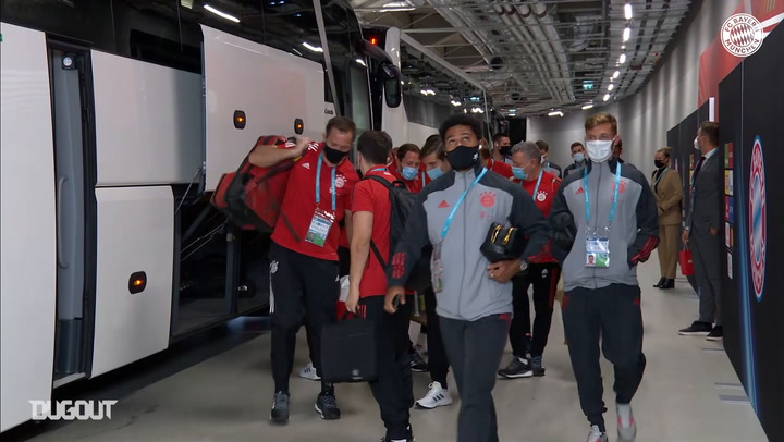 Behind the scenes: FC Bayern arrive for the 2020 European Super Cup