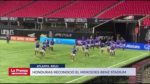 Honduras reconoció el Mercedes Benz Stadium y Choco Lozano trabajó aparte