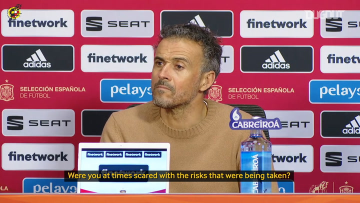 Luis Enrique on Spain playing out from the back