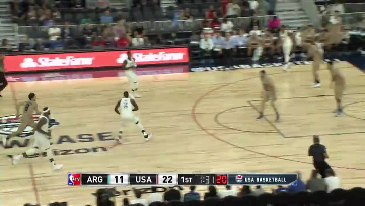 Paul George scores 18 in his return to action with the Men's National Team