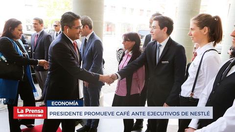 Presidente promueve café ante ejecutivos de NESTLÉ