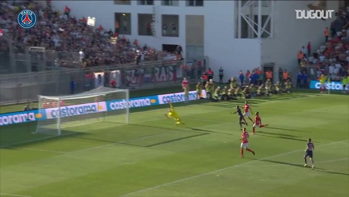 Gols de Mbappé pelo PSG contra o Nimes