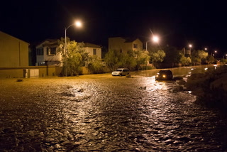 Flooding in Southwest Las Vegas