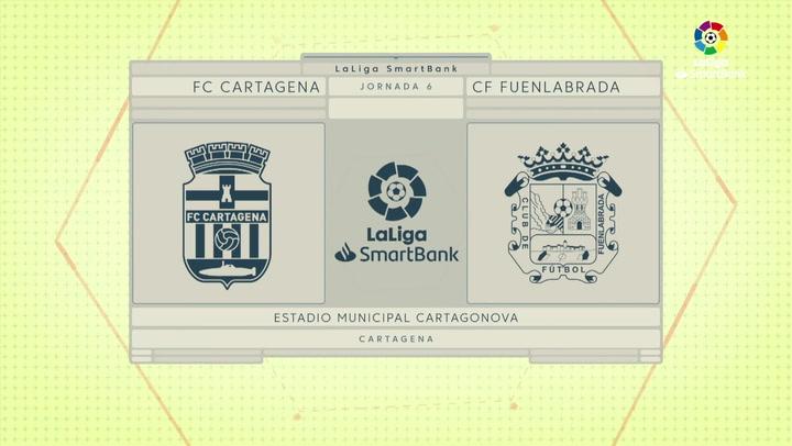 LaLiga SmartBnak (J6): Resumen y goles del Cartagena 1-1 Fuenlabrada