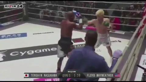 Otro show mediático de Mayweather vendido como boxeo