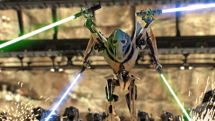 Image result for grievous 4 arm pose