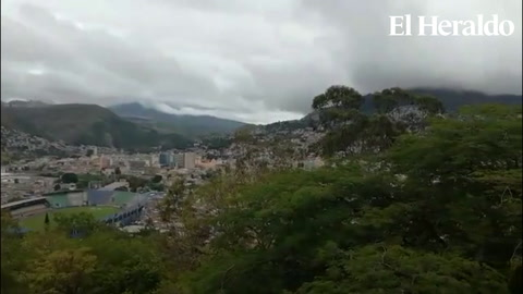 Así se percibe Tegucigalpa desde el cerro Juana Laínez