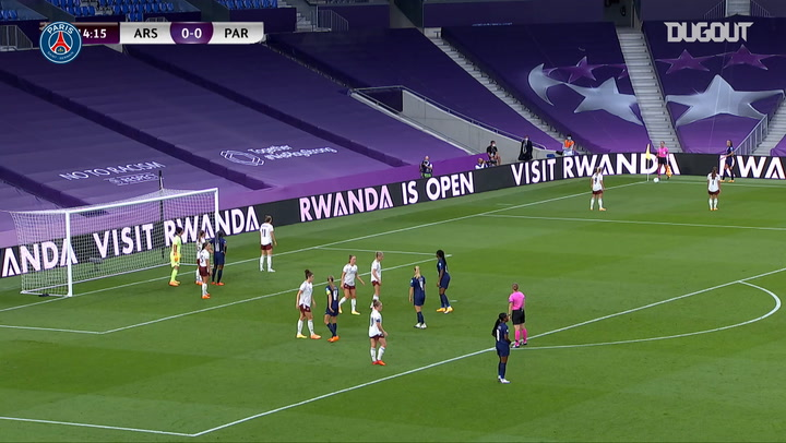 PSG women's beat Arsenal in the 2020 Champions League quarter-final