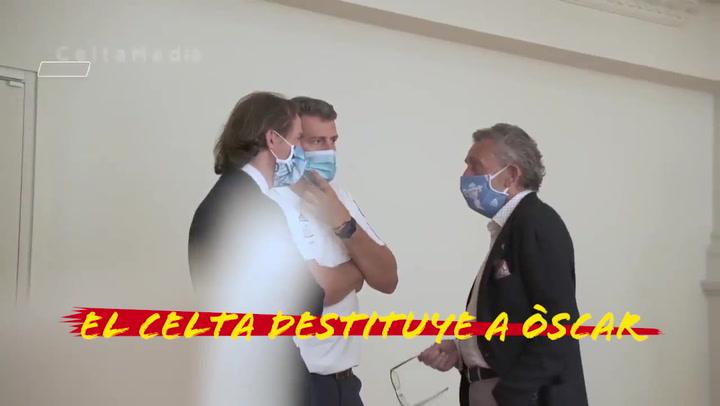 El Celta destituye a Òscar García