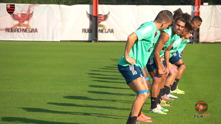 Flamengo are back training under Maurício Souza's guidance
