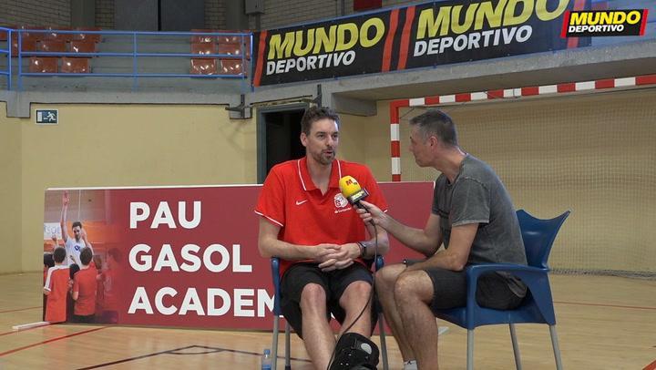 Entrevista MD a Pau Gasol durante su campus