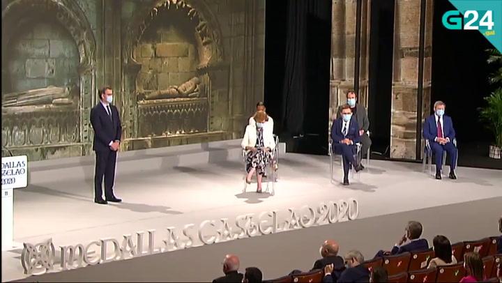 Ana Peleteiro durante la entrega de la Medalla Castelao 2020