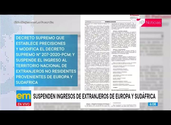 Suspenden ingreso de extranjeros de Europa o Sudáfrica hasta el 31 de enero