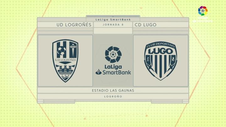 LaLIga SmartBank (J8): Resumen y goles del Logroñés 2-3 Lugo