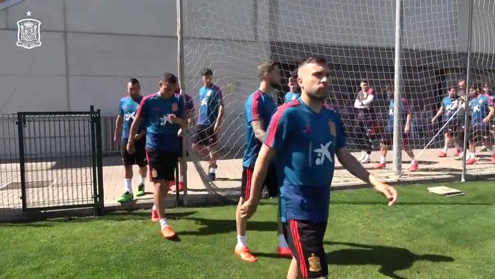 La Selección se entrena de cara al partido contra Suecia