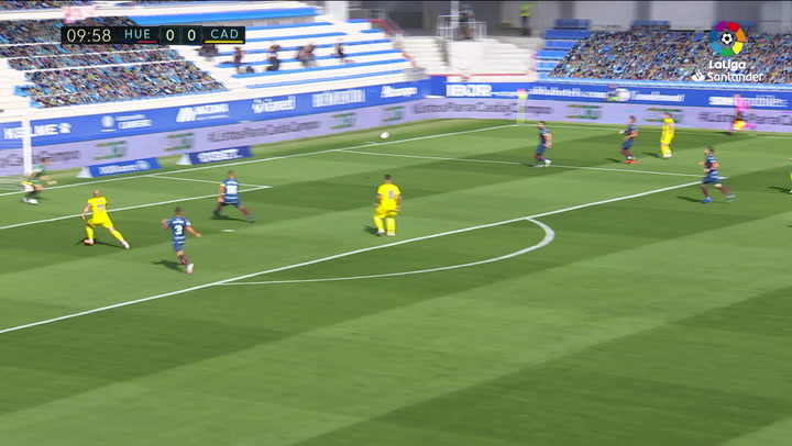 Gol de Álvaro Negredo (0-1) en el Huesca 0-2 Cádiz