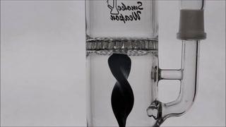 Spirulina-Bent Neck Water Pipe with Honeycomb Perc