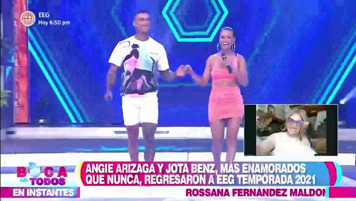 """Johana San Miguel a Jota Benz:  """"Espero que trates a Angie de forma maravillosa"""""""