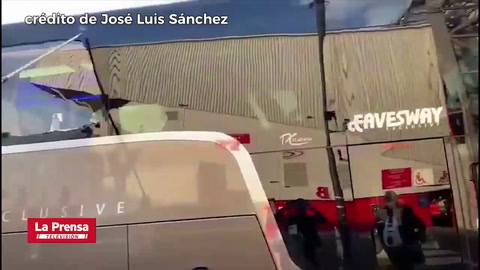 Apedrean el autobús del Real Madrid en Inglaterra